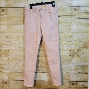 Pilcro and the Letterpress Blush Pink Skinny Jeans